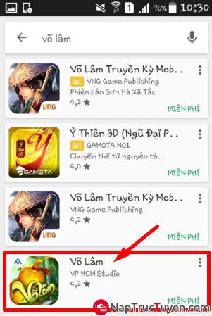Giới thiệu và tải game Võ Lâm cho điện thoại cài Android + Hình 7