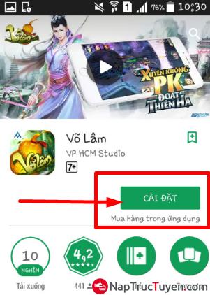 Giới thiệu và tải game Võ Lâm cho điện thoại cài Android + Hình 8