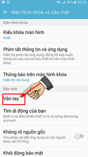 Điện thoại Samsung Galaxy J7 Prime - Cách cài đặt mở khóa bằng vân tay + Hình 4