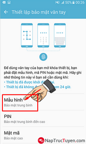 Điện thoại Samsung Galaxy J7 Prime - Cách cài đặt mở khóa bằng vân tay + Hình 5