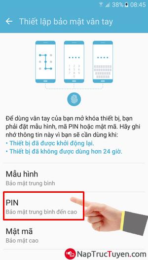 Sửa lỗi điện thoại Samsung Galaxy J7 Prime không nhận được vân tay + Hình 2