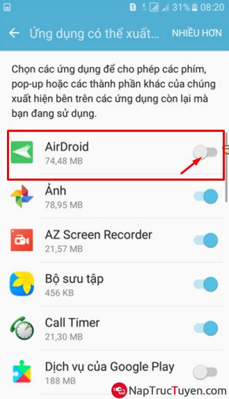 Cách tắt lớp phủ màn hình trên điện thoại Samsung Galaxy J5, J7 nhanh gọn + Hình 7