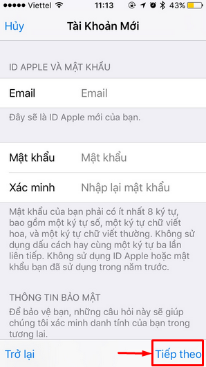 Tạo tài khoản iCloud - Apple ID Free nhanh gọn mà không cần thẻ VISA, MASTERCARD + Hình 4