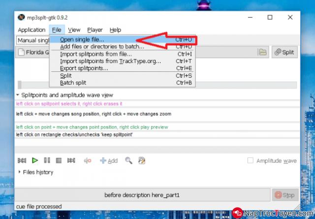 Hướng dẫn cắt ghép file nhạc bằng phần mềm MP3SPLT + Hình 3