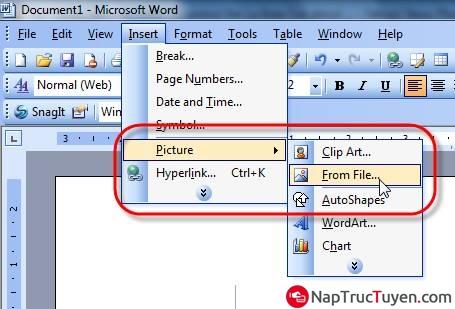 Hướng dẫn chèn logo hình ảnh vào văn bản, tài liệu Word + Hình 3