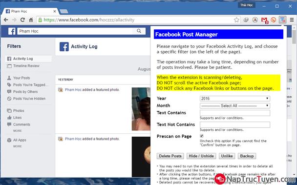 Tuyệt chiêu dọn sạch tường Facebook nhà bạn một cách nhanh chóng nhất + Hình 5