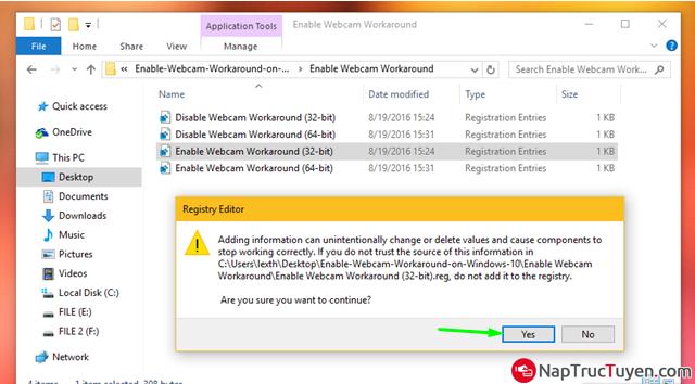 Sửa lỗi Webcam bị crash khi được nâng cấp lên Windows 10 Anniversary + Hình 9