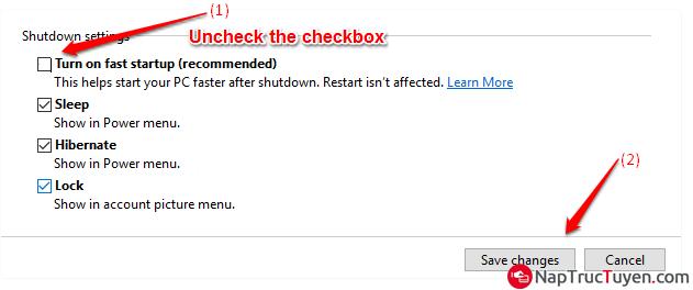 Cách sửa lỗi không tắt được laptop chạy Windows 10 + Hình 8