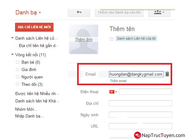 Hướng dẫn thêm Address Email mới vào danh sách liên hệ cho Gmail + Hình 4