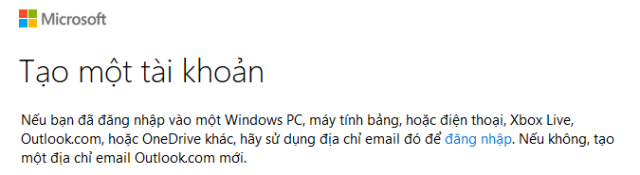 Hướng dẫn đăng ký tài khoản Microsoft mail, Hotmail, Outlook Mail + HÌnh 2