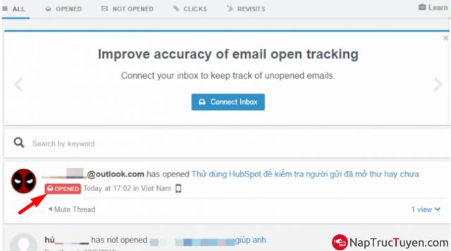 Cách kiểm tra xem bạn bè đã xem/đọc được Email do bạn gửi hay chưa? + Hình 7
