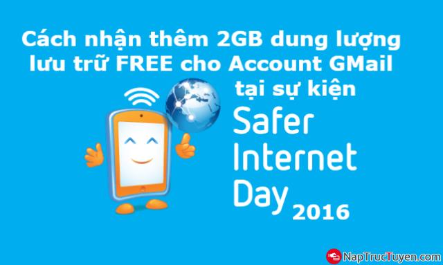 Hướng dẫn nhận thêm 2GB dung lượng lưu trữ FREE cho Account GMail + Hình 1